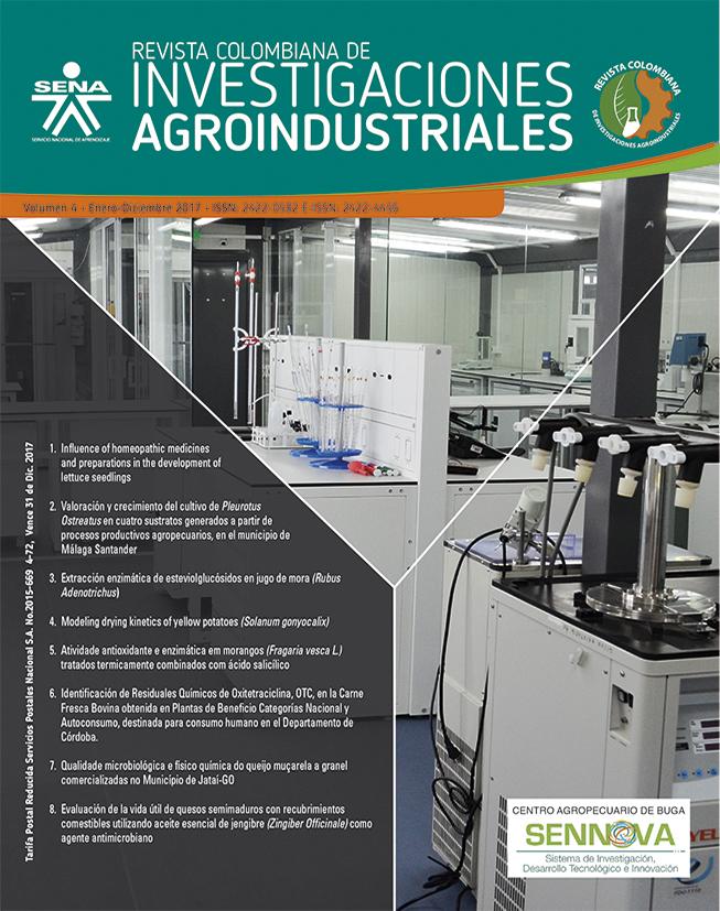 revista Colombiana de Investigaciones Agroindustriales