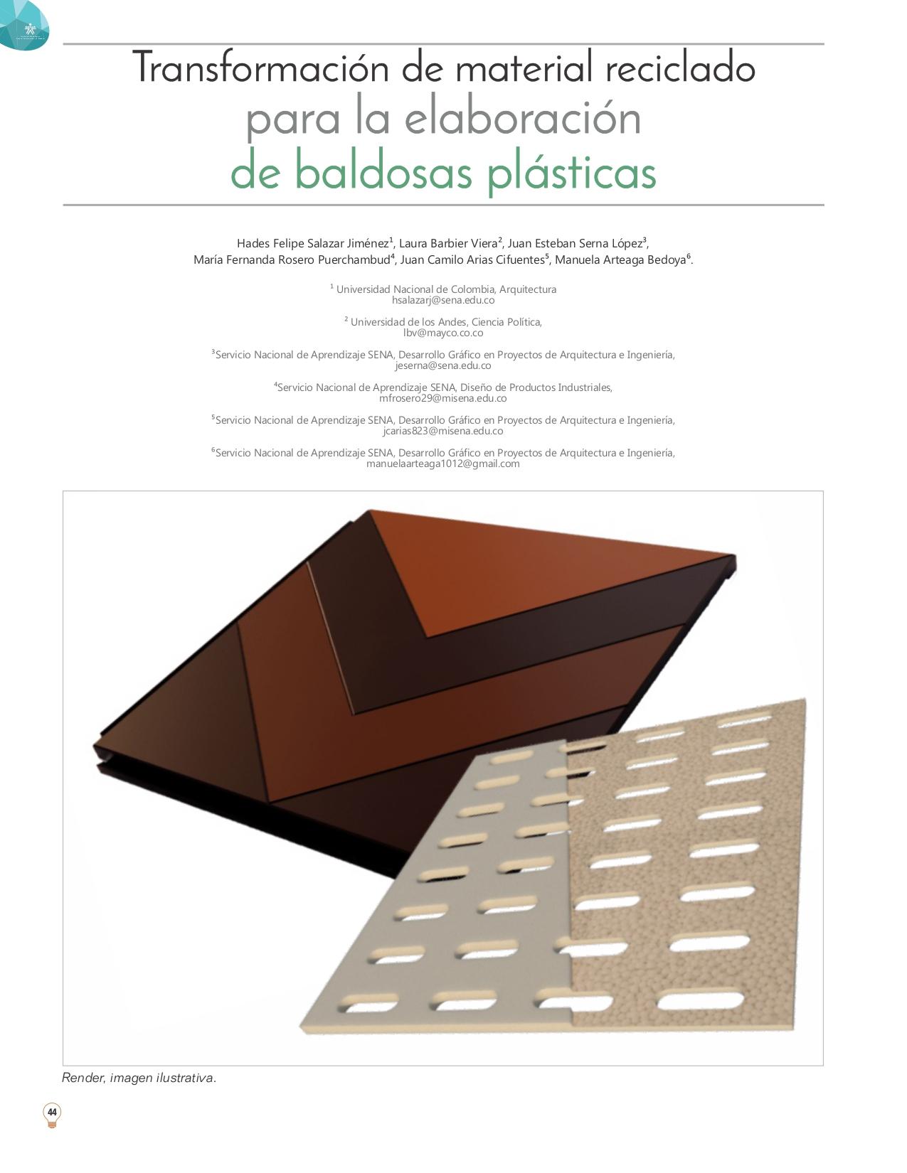 Transformación de material reciclado para la elaboración de baldosas plásticas